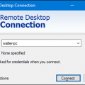 Remote Desktop Connection Windows 10